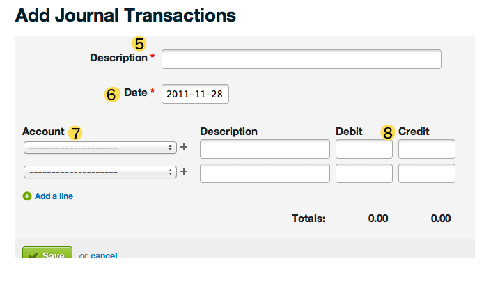 fiscal year end 2011: wave accounting journal transactions