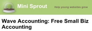 MiniSprout reviews Wave Accounting for small business