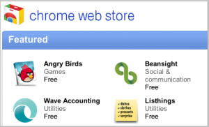 Wave Accounting is featured in the Chrome store