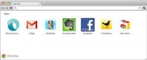 apps in new Chrome tab