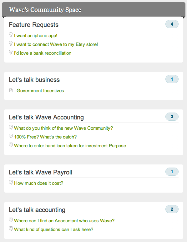 wave small business community