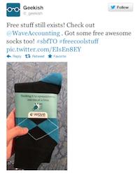 wave free socks for startups