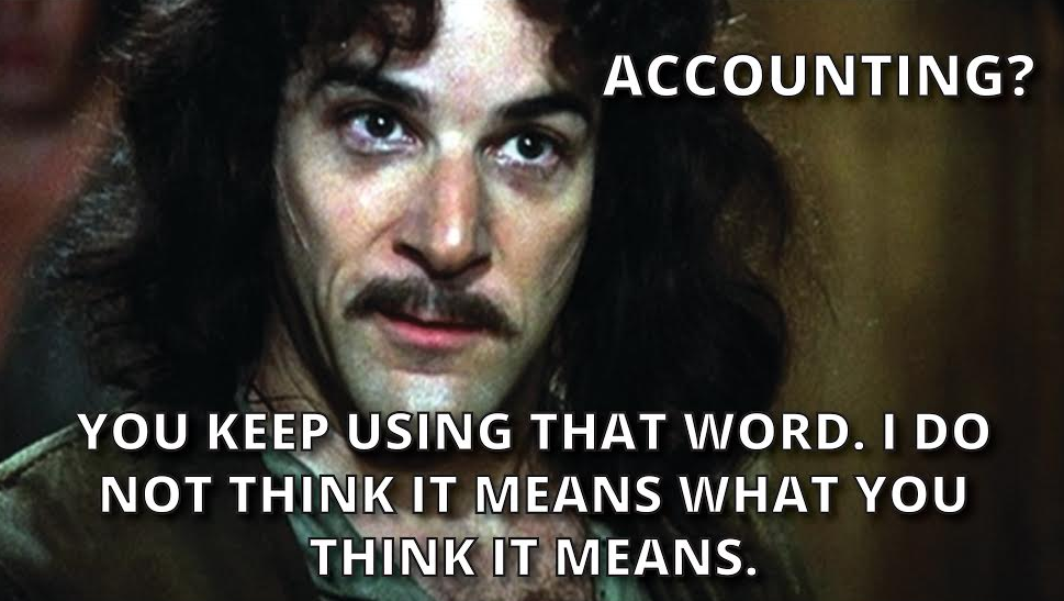 Inigo knows accounting